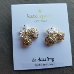 Kate Spade NWT Double Pavé Cluster Stud Earrings